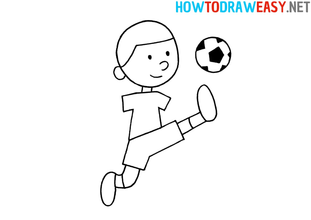 Soccer Player Drawing Easy