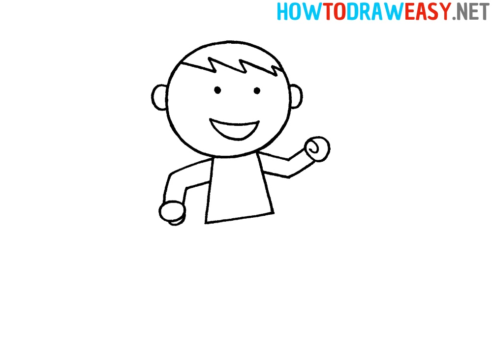 Step by Step Karate Person Drawing