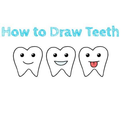 Cartoon Teeth Drawing Tutorial