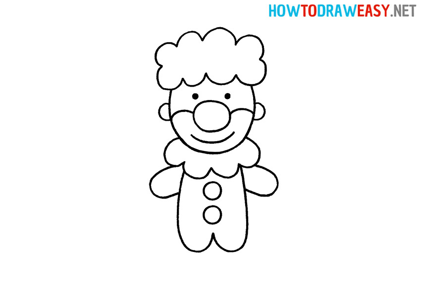 Clown How to Draw