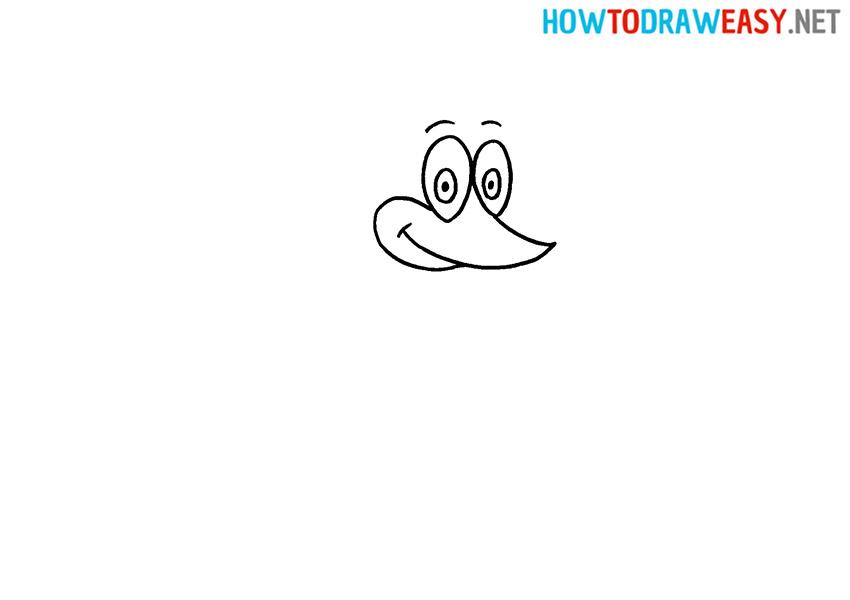 Drawing Woody Woodpecker