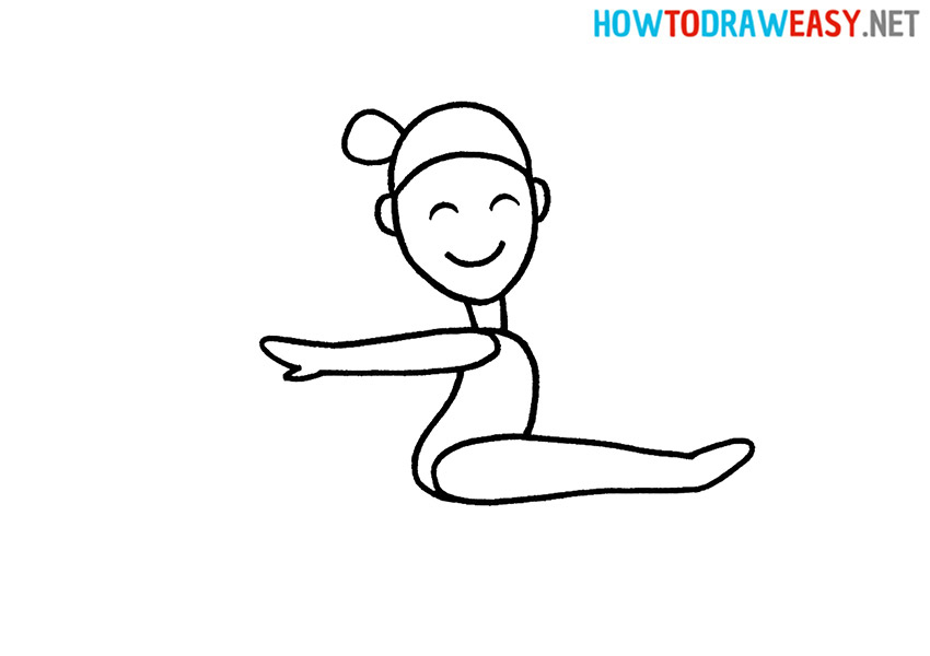 Gymnast How to Draw