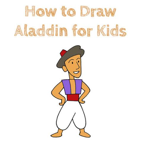 How to Draw Aladdin Easy