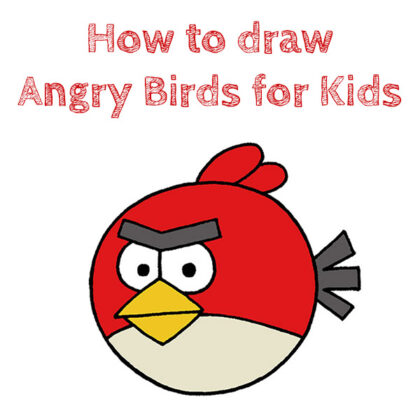How to Draw Angry Birds for Kids