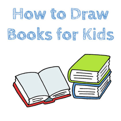 How to Draw Books Easy
