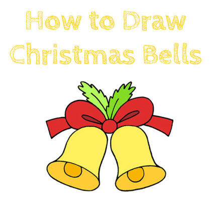 How to Draw Christmas Bells Easy