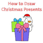 How to Draw Christmas Presents for Kids