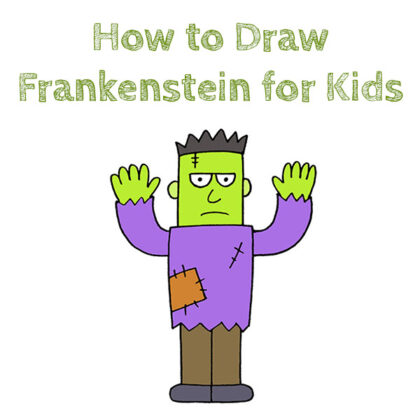 How to Draw Frankenstein Easy