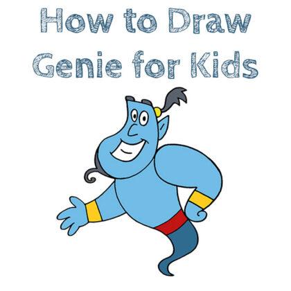 How to Draw Genie Easy