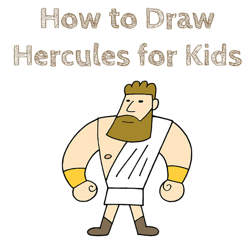 How to Draw Hercules for Kids