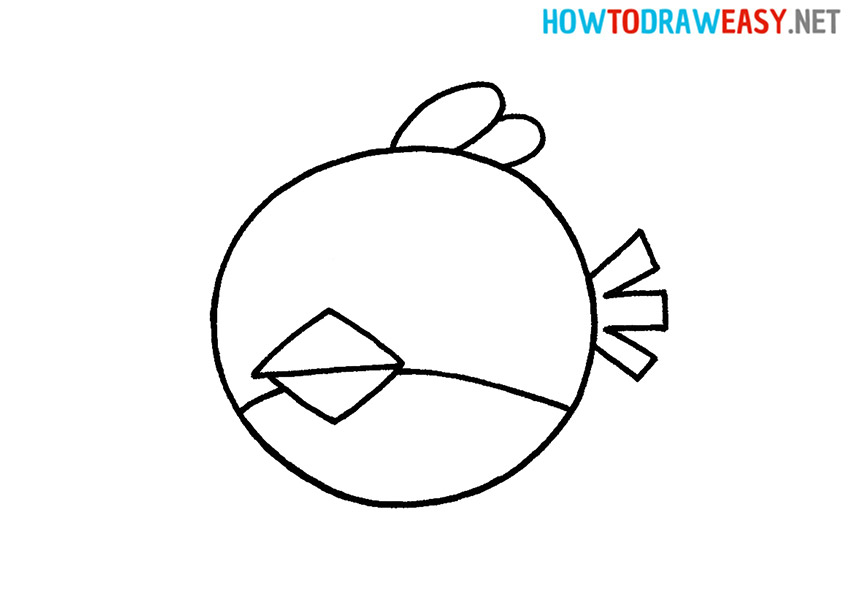 How to Draw Red Angry Birds