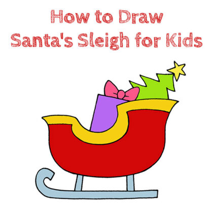 How to Draw Santa's Sleigh Easy