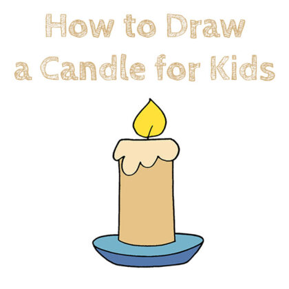 How to Draw a Candle Easy