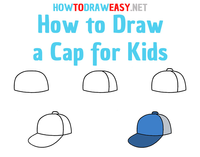 How to Draw a Cap Step by Step