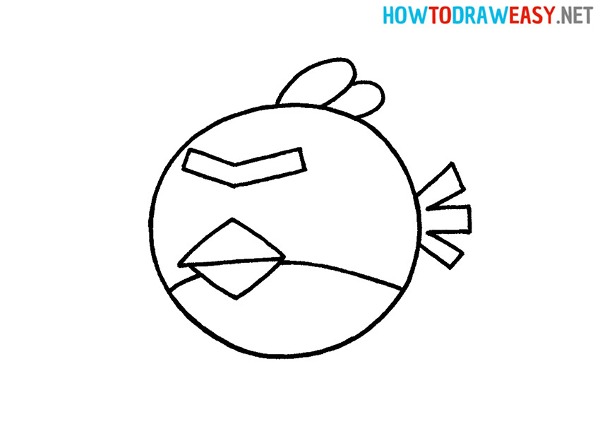 How to Draw a Cartoon Angry Birds