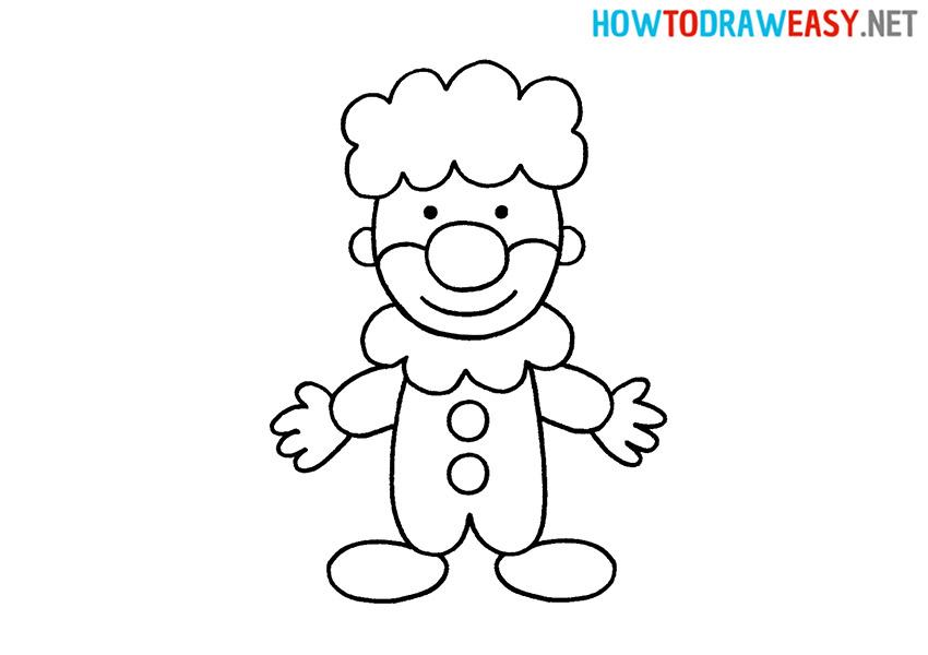 How to Draw a Cartoon Clown