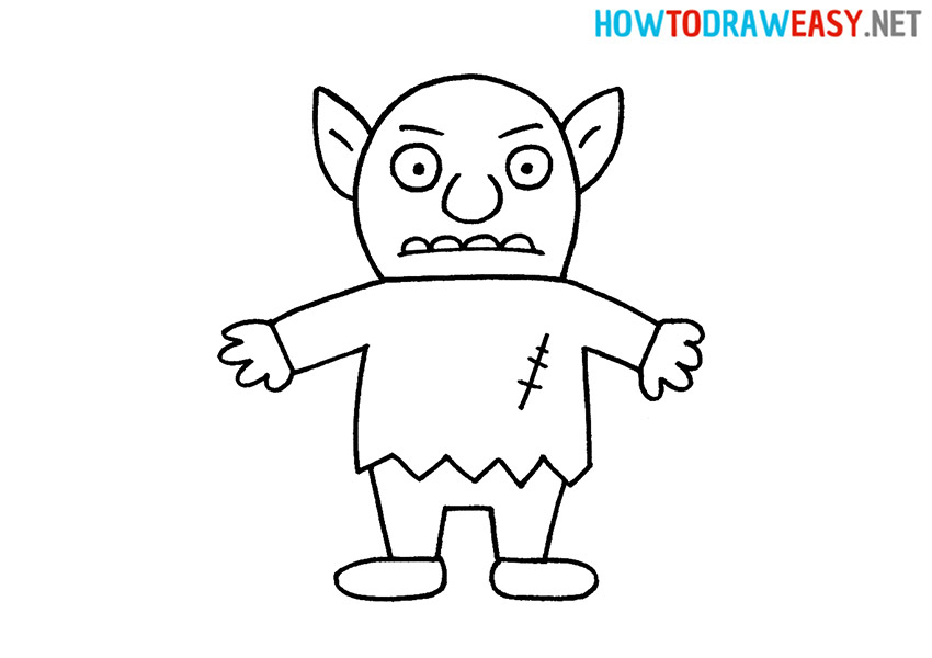 How to Draw a Cartoon Goblin