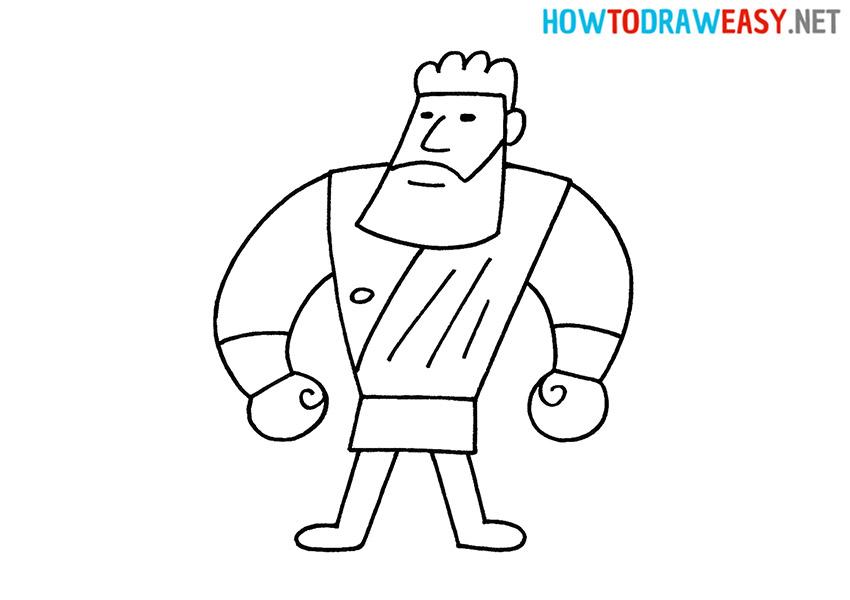 How to Draw a Cartoon Hercules