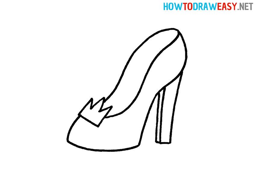 How to Draw a Cartoon Princess Shoe