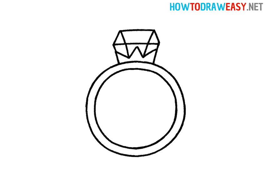 How to Draw a Cartoon Ring