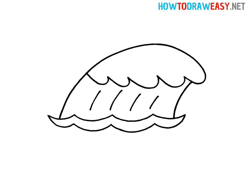 How to Draw a Cartoon Wave