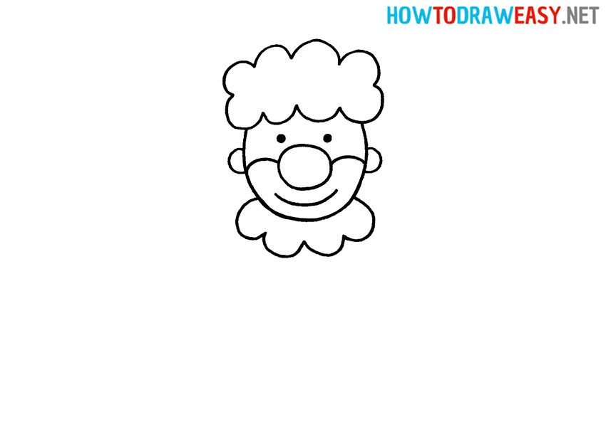 How to Draw a Clown Head