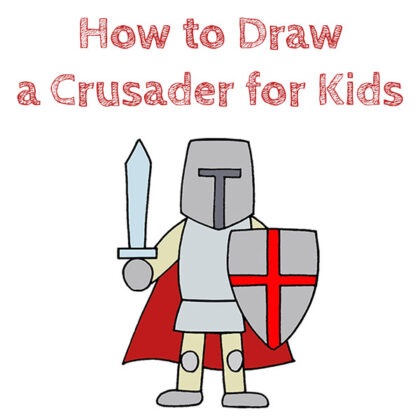How to Draw a Crusader Easy