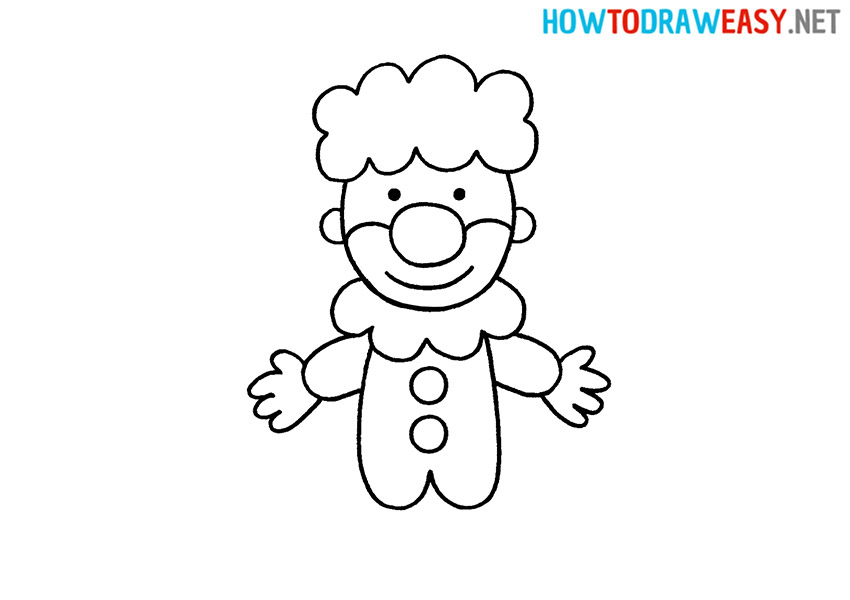 How to Draw a Cute Clown
