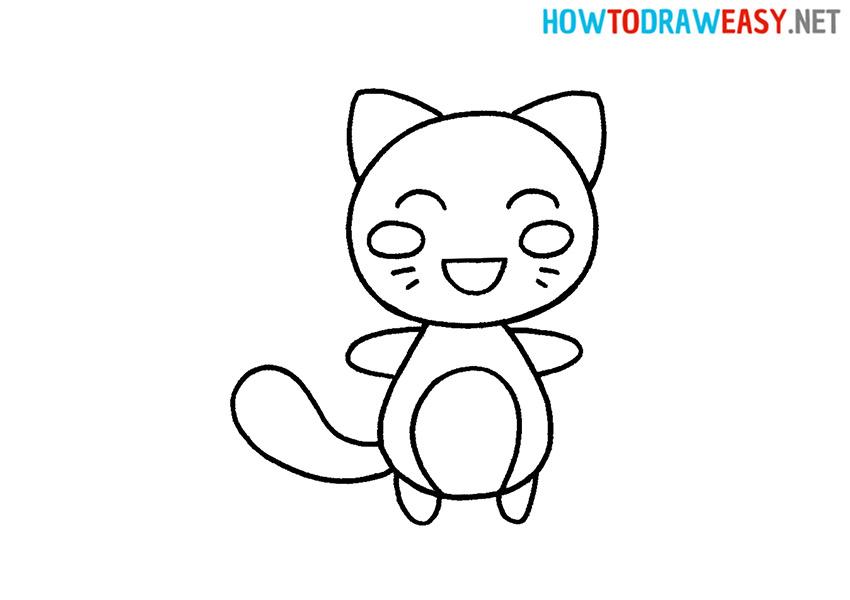 How to Draw a Cute Kawaii Cat