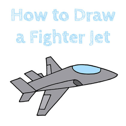 How to Draw a Fighter Jet Easy