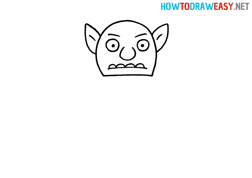 How to Draw a Goblin Face