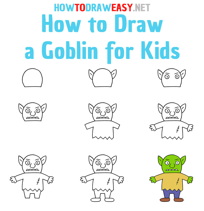 How to Draw a Goblin Step by Step