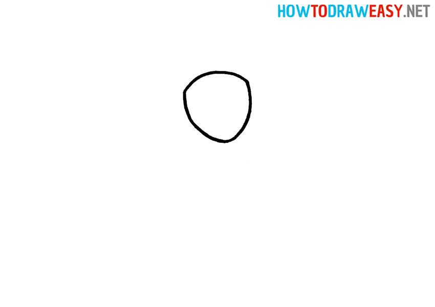 How to Draw a Gymnast Step 1