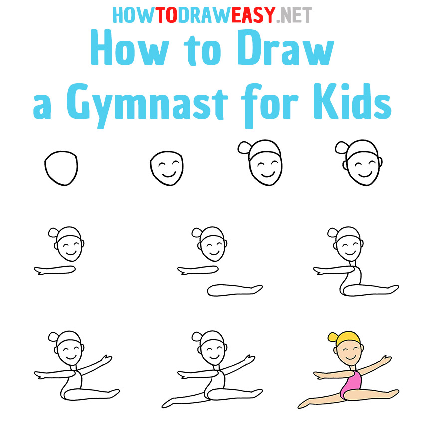 How to Draw a Gymnast Step by Step