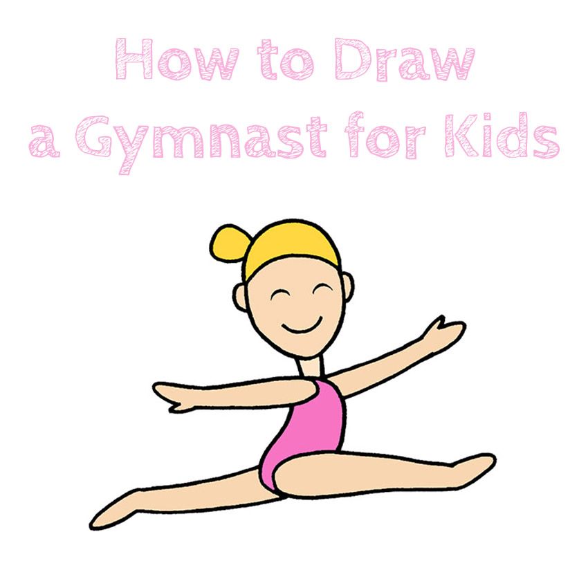 How to Draw a Gymnast for Kids