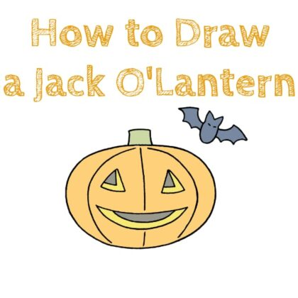 How to Draw a Jack o Lantern for Kids