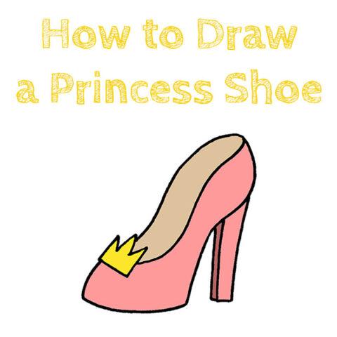 How to Draw a Princess Shoe Easy