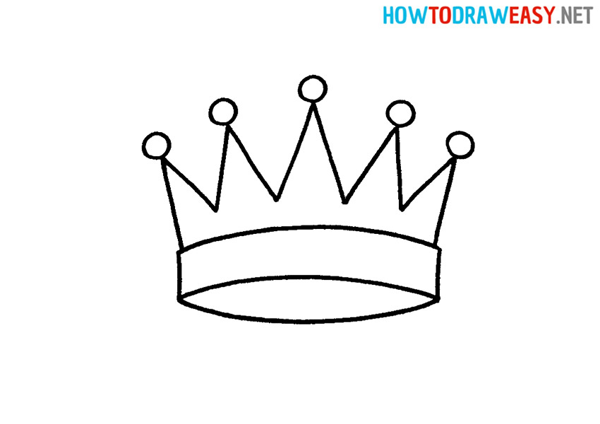 How to Draw a Queen Crown