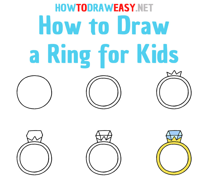 How to Draw a Ring Step by Step