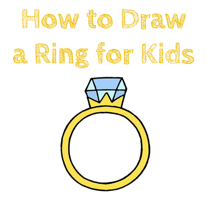 How to Draw a Ring for Kids