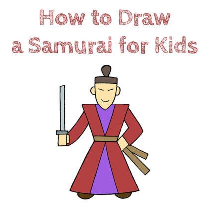 How to Draw a Samurai Easy