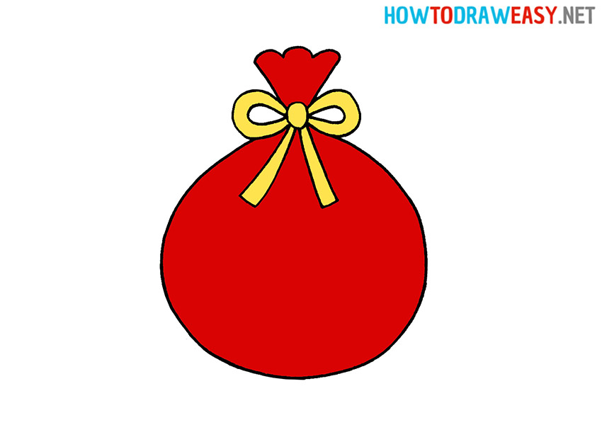 How to Draw a Santa's Bag
