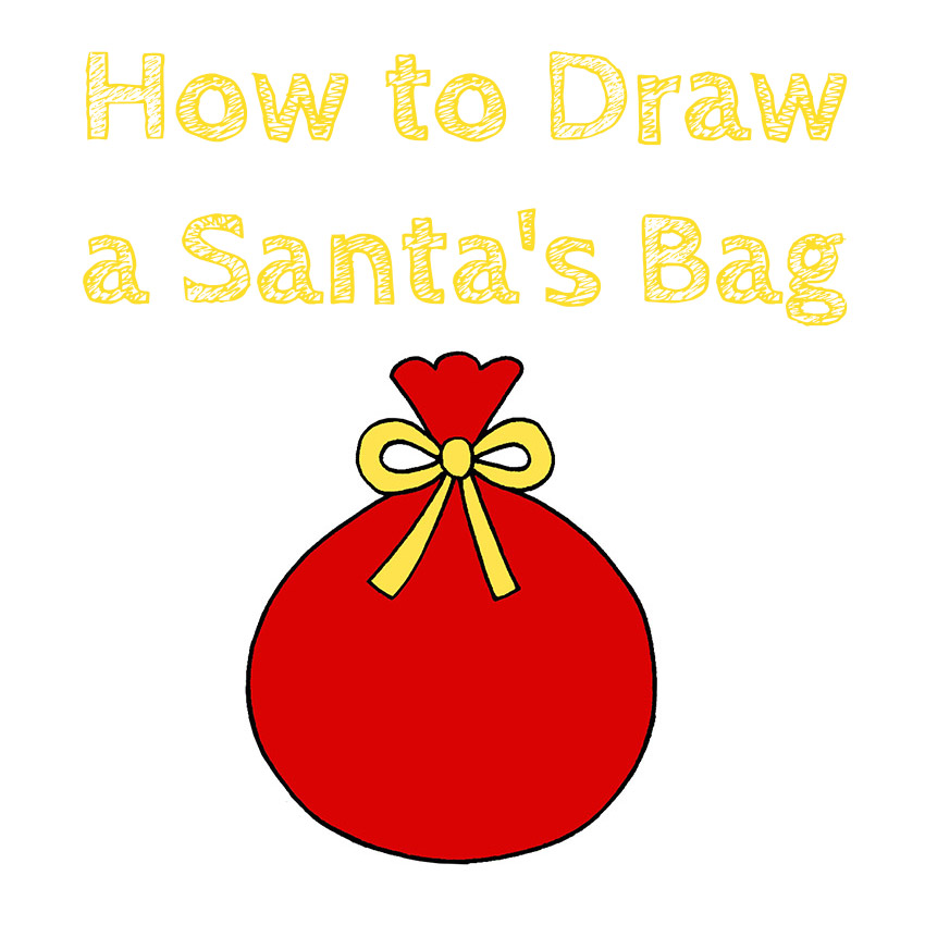 How to Draw a Santa's Bag for Kids