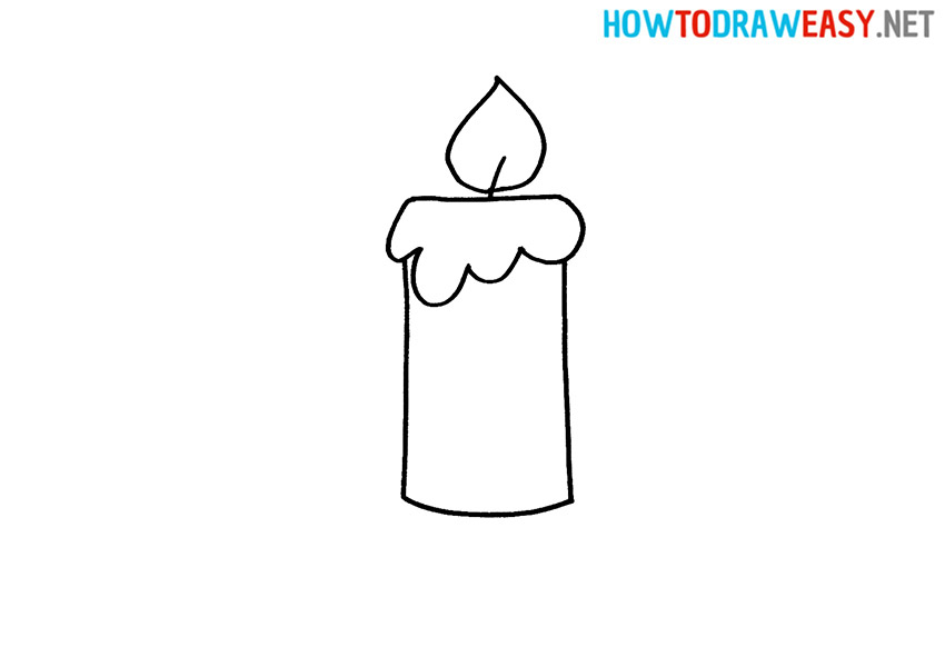 How to Draw a Simple Candle