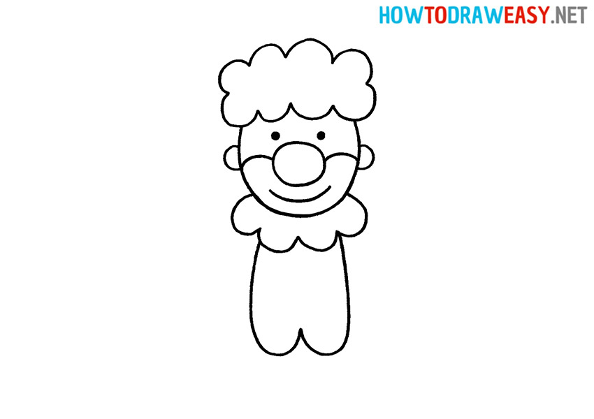 How to Draw a Simple Clown