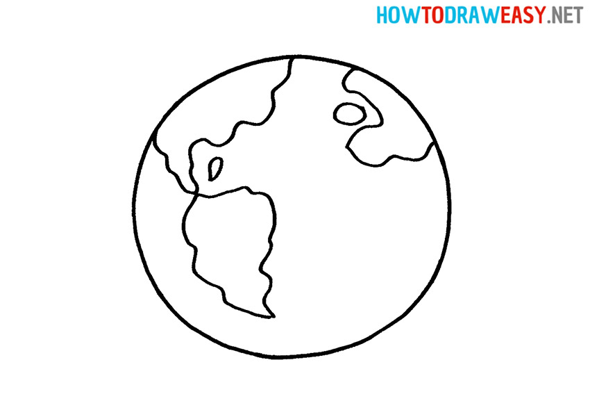 How to Draw a Simple Earth