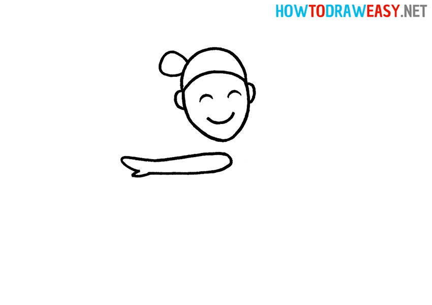 How to Draw a Simple Gymnast