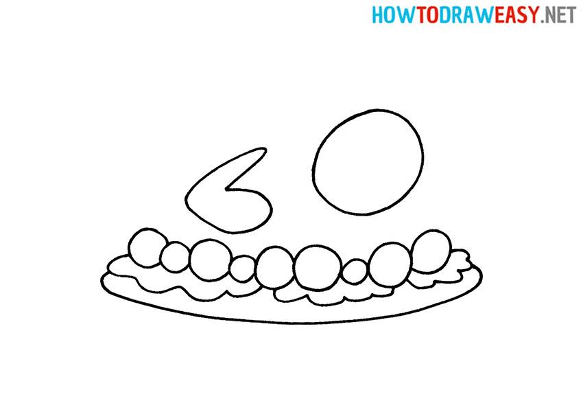 How to Draw a Simple Roast Turkey