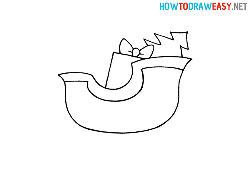 How to Draw a Simple Santa's Sleigh