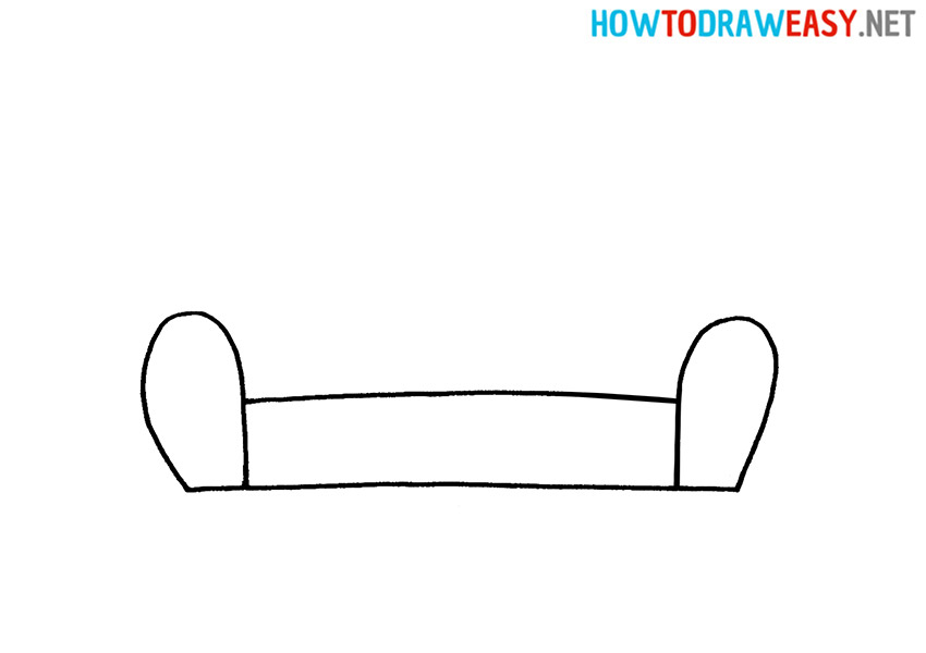 How to Draw a Simple Sofa